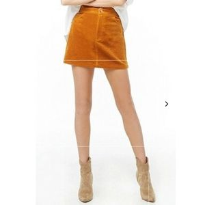 ⤵️Forever 21 Camel/Mustard Yellow Suede Skirt